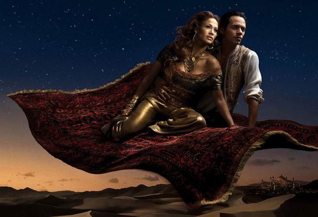 Jennifer Lopez and Marc Antony from Aladdin
