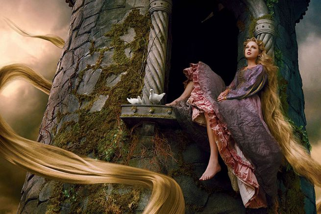 Taylor Swift as Rapunzel