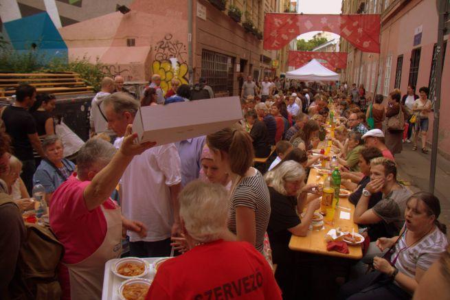Közösségi vacsora a Judafesten (Fotó: Hajmási Péter)