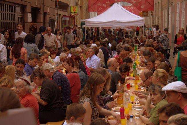 Közösségi vacsora (Fotó: Hajmási Péter)
