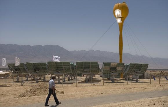 naperőmű a Negev-sivatagban