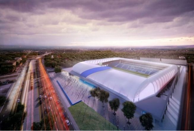 Az új MTK-stadion látványterve