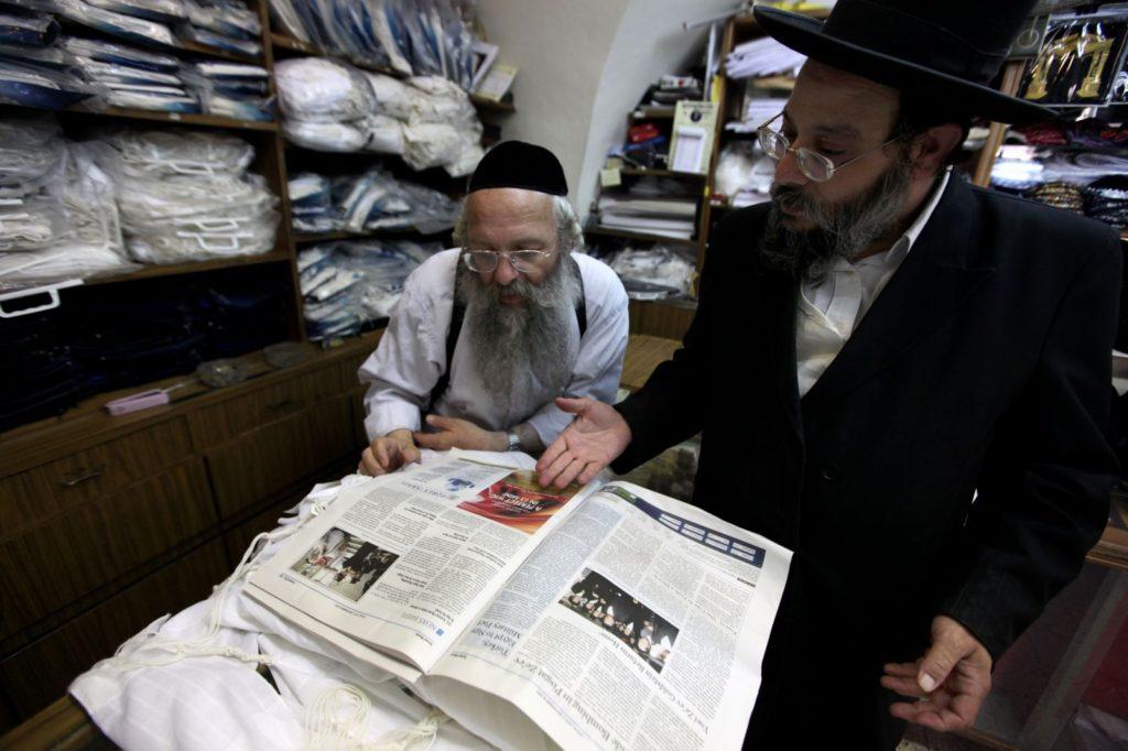 Történelmi fotó egy ultraortodox zsidó lapban