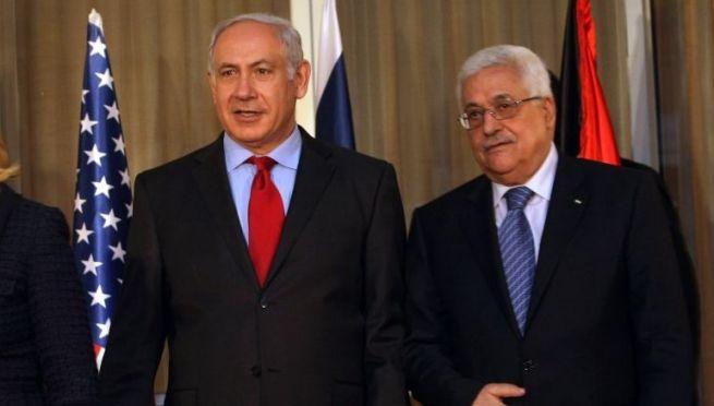 Benjámin Netanjahu és Mahmúd Abbász