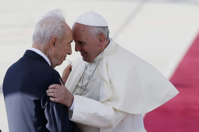 Peresz és Ferenc pápa