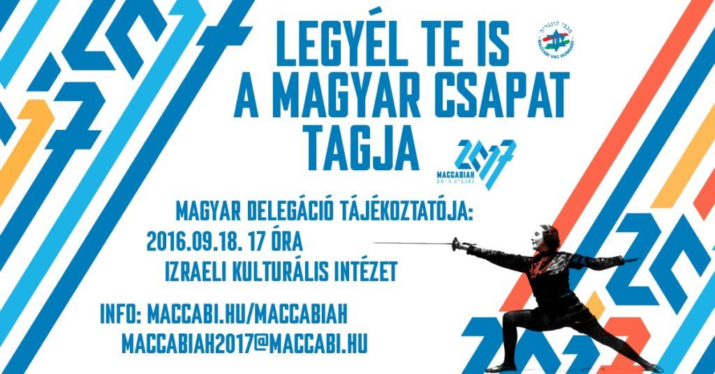 Szept. 18-án Maccabiah találkozó