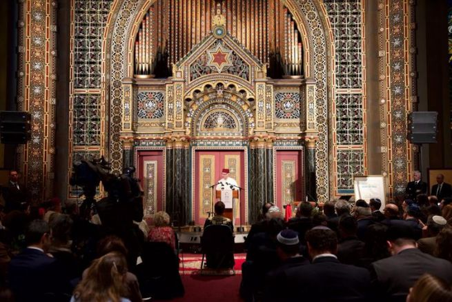 A dijatado unnepseg a New York i Bnai Jeshurun zsinagogaban