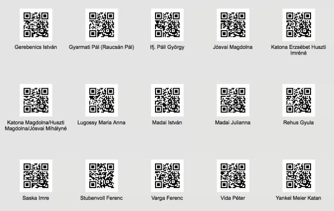 QR-kódok a Fampath-on
