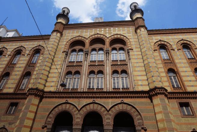 A Rumbach zsinagóga homlokzata