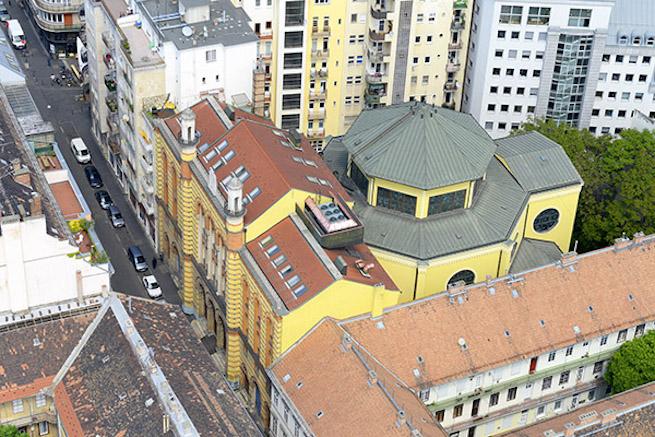 A zsinagóga felülről (Fotó: legifoto.com)