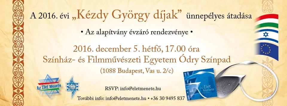 """""""Élet Menete"""" – Kézdy György díjátadó"""