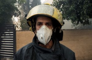 A nagy tűz egy izraeli tűzoltó szemével