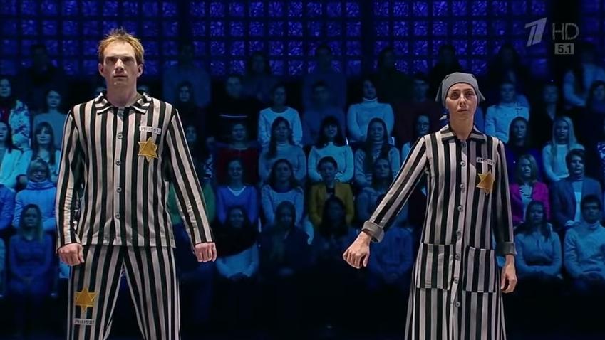 Egy orosz tévécsatorna szerint jó ötlet jégrevüt csinálni a holokausztból