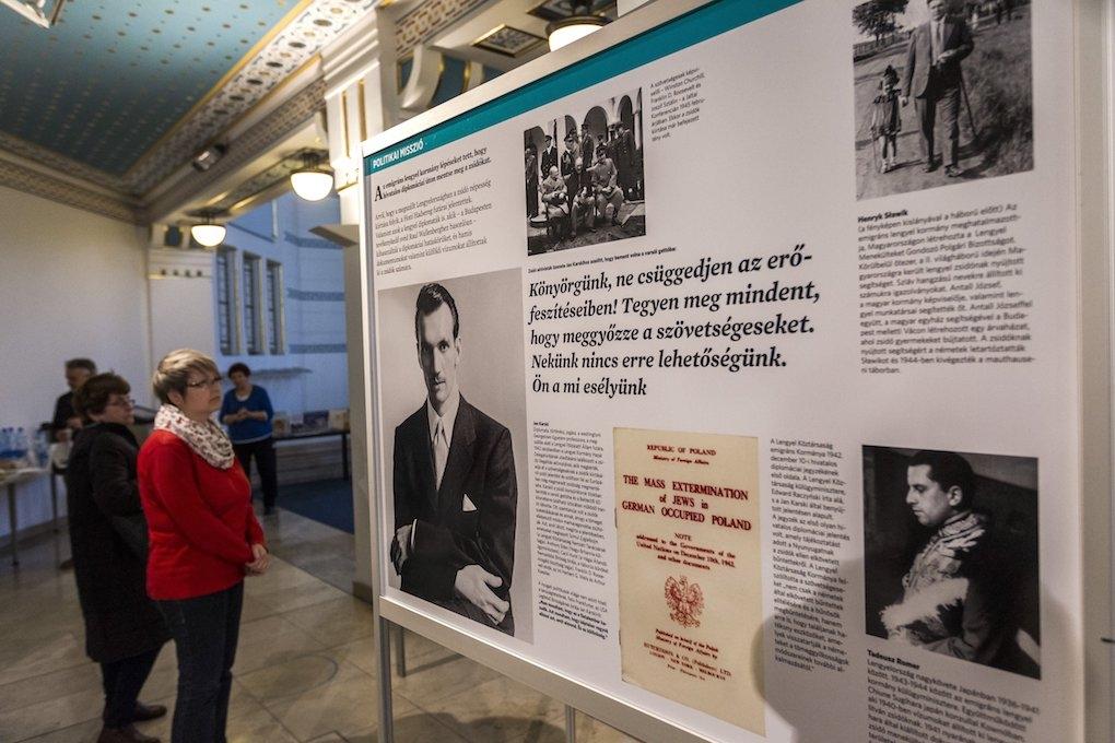 Zsidómentő lengyelekről nyílt kiállítás a Holokauszt Emlékközpontban