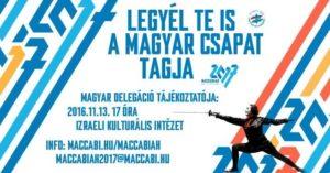 Tájékoztató est a Maccabiáról