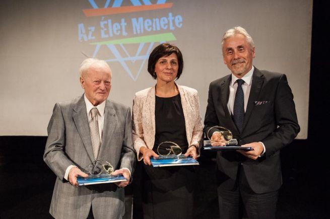 A díjazottak: Forgács János, Zám Ildikó és Roman Kowalski