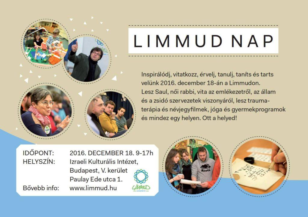 Saul fia és női rabbik az idei Limmud-nap programjában