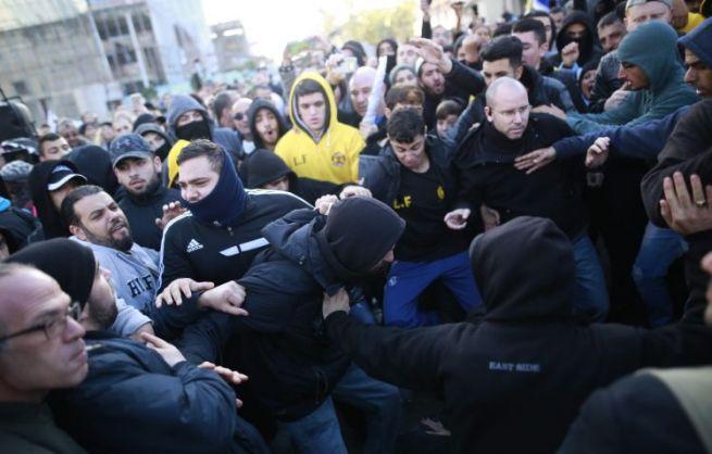 Tüntetés a bíróság előtt
