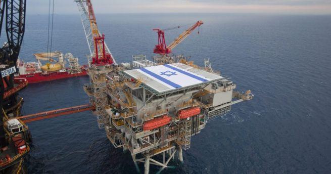 Izraeli gázkitermelő állomás a Földközi-tengeren