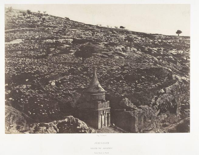 Fotó: Auguste Salzmann: Jozafát völgye. Nyugati és északi oldal, 1854