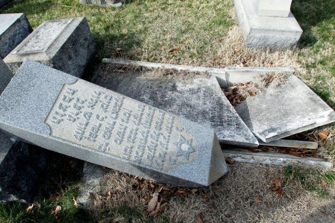A megrongált philadelphiai zsidó temető