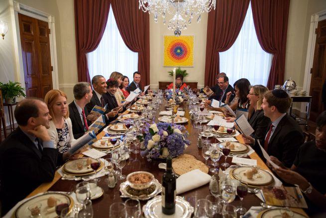 Széder este a Fehér Házban Obama elnöksége idején