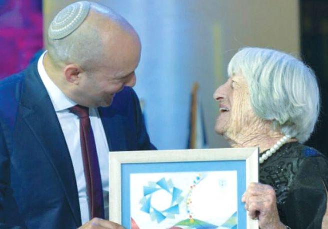 Keleti Ágnes átveszi az Izrael-díjat Naftali Bennet oktatási minisztertől