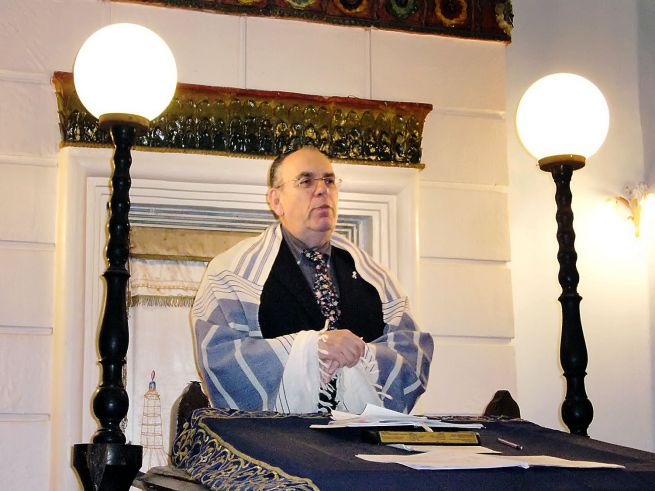 Raj Feren, a Bet Orim közösség rabbija (Fotó: Móricz-Sabján Simon/Népszabadság)