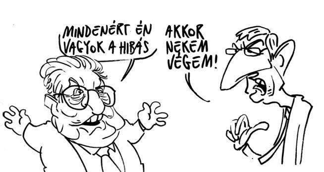 Pápai Gábor rajza a Népszavában