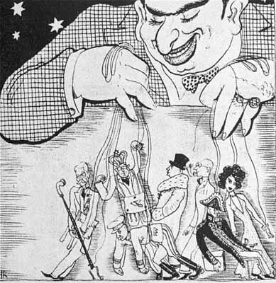 Antiszemita karikatúra a '30-as évekből