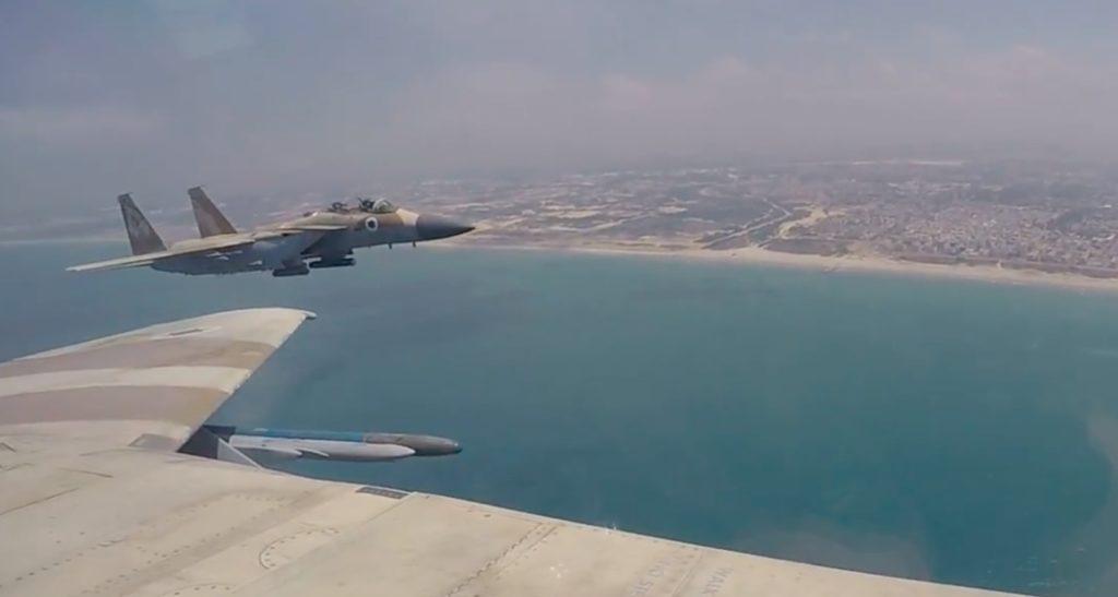 Ilyen volt az izraeli légierő függetlenségi napi berepülése a levegőből nézve