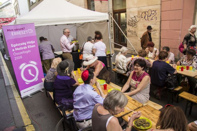 Judafest közösségi vacsora (Fotó: Hajmási Péter)