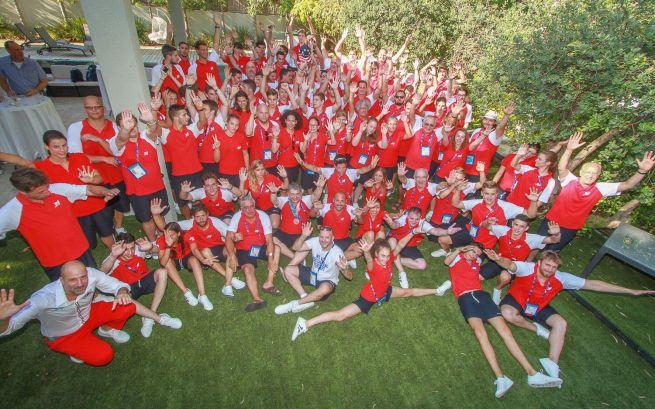 A magyar csapat a 20. Maccabi Világjátékokon (Fotó: facebook.com/hungary.maccabivac)