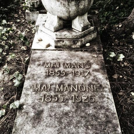 Mai Manó és felesége sírja a Kozma utcai zsidó temetőben (Fotó: Csortos Szabó Sándor/maimanohaz.blog.hu)