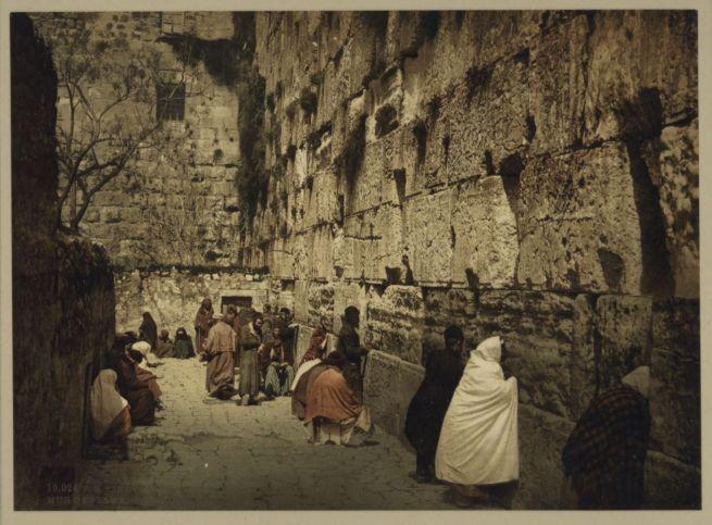 Imádkozók a Siratófalnál