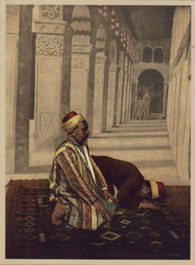 Imádkozó muszlimok