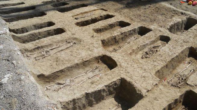 A feltárt középkori zsidó temető Bolognában