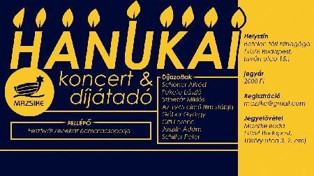 Fesztiválzenekar Kamaracsoportjának koncertje és hanukai díjátadó