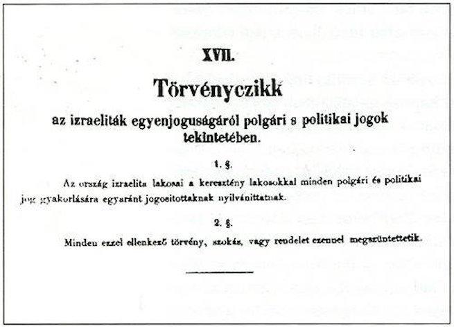 150 éves a zsidóság emancipációja Magyarországon