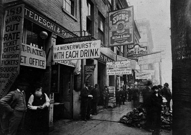 Egy zsidó utca Cincinnatiben a 19. század végén