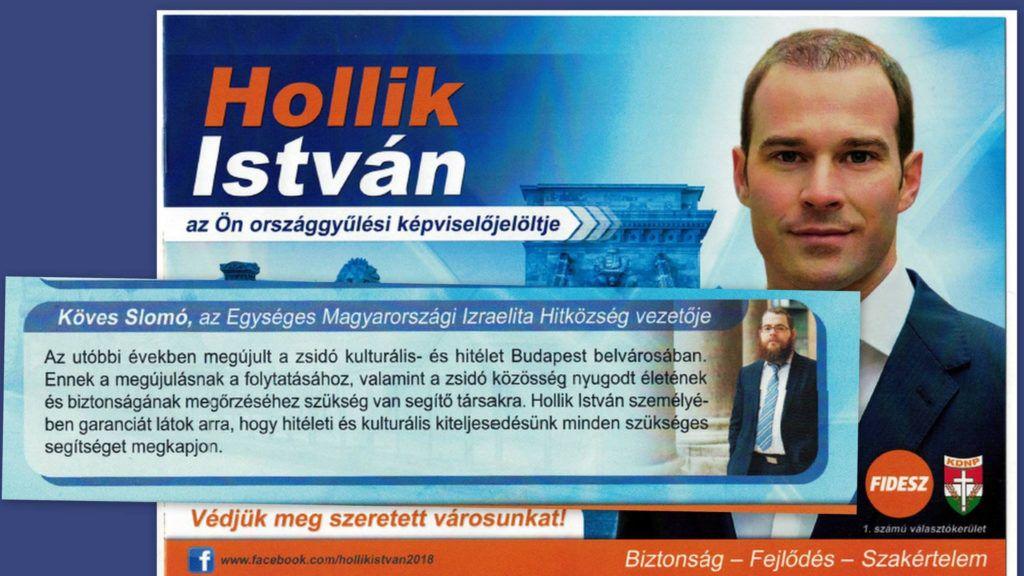 Köves Slomó rabbi Hollik István KDNP-s képviselő kampányanyagában