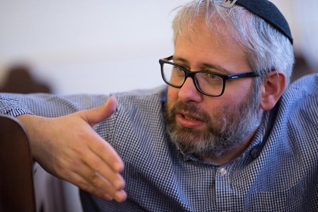 Fináli Gábor rabbi (Fotó: Csanádi Márton/HVG)