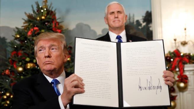 Donald Trump amerikai elnök elismeri Jeruzsálemet Izrael fővárosának