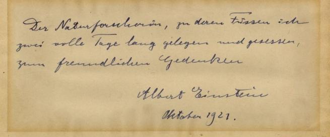 Einstein levele Elisabetta Piccininek