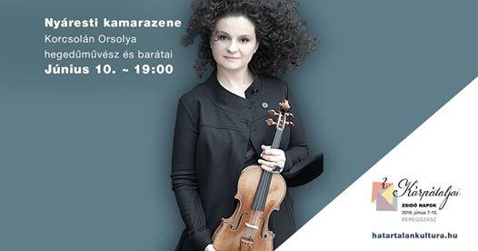 Korcsolán Orsolya hegedűművész és barátai