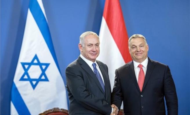 Benjamin Netanjahu és Orbán Viktor