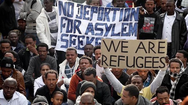 Afrikai menedékkérők demonstrálnak Tel-Avivban január elején