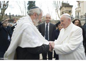 Ferenc pápa és a római főrabbi ünnepi jókívánságokat küldött egymásnak