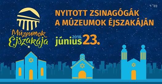 Nyitott Zsinagógák Éjszakája a Múzeumok Éjszakáján
