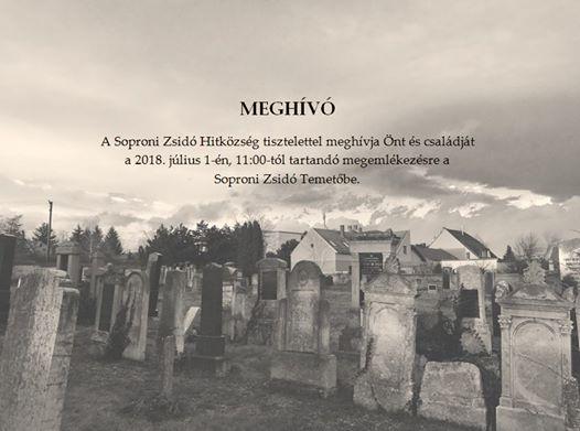 Megemlékezés a soproni zsidóság elhurcolásának 74. évfordulóján
